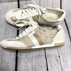 Coach Signature Canvas Suede Leather Joss Sneakers